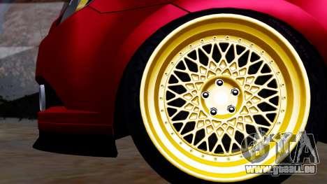 Chevrolet Aveo Stance pour GTA San Andreas sur la vue arrière gauche