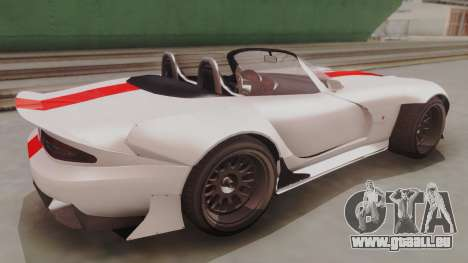 GTA 5 Bravado Banshee 900R IVF pour GTA San Andreas sur la vue arrière gauche