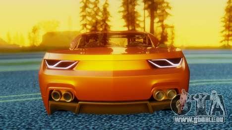 Chevrolet Camaro DOSH Tuning v2 für GTA San Andreas rechten Ansicht
