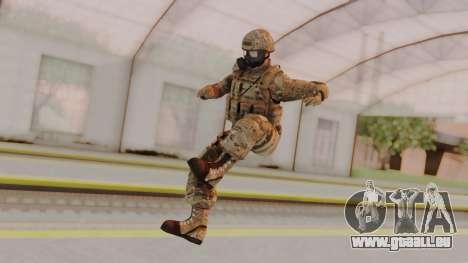 US Army Multicam Soldier Gas Mask from Alpha Pro für GTA San Andreas zweiten Screenshot