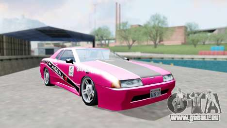 Elegy 4 Drift Drivers V2.0 pour GTA San Andreas sur la vue arrière gauche