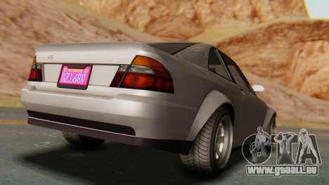 GTA 5 Karin Sultan RS pour GTA San Andreas sur la vue arrière gauche