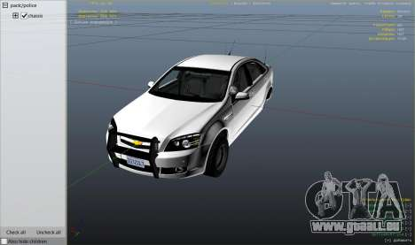 Unmarked Chevrolet Caprice pour GTA 5
