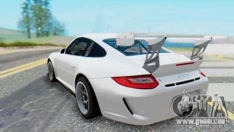Porsche 911 GT3 Cup pour GTA San Andreas sur la vue arrière gauche