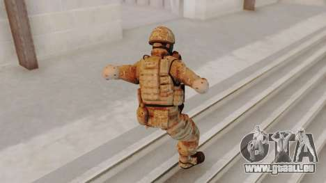 US Army Multicam Soldier Gas Mask from Alpha Pro für GTA San Andreas dritten Screenshot