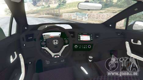 GTA 5 Honda Civic SI v1.0 arrière droit vue de côté