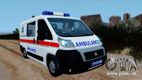 Fiat Ducato Serbian Ambulance für GTA San Andreas