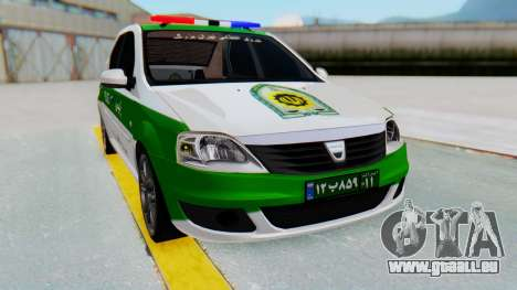 Dacia Logan Iranian Police Naja pour GTA San Andreas vue de droite