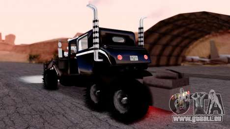 Mad Max The War Rig Bilge Tuning pour GTA San Andreas laissé vue