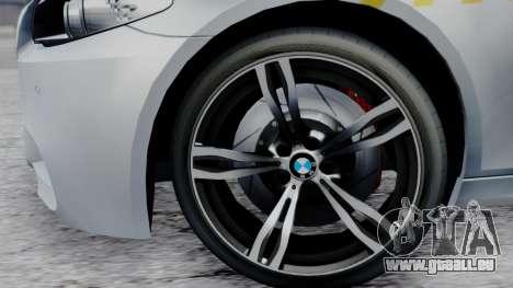 BMW M5 F10 Hungarian Police Car pour GTA San Andreas vue de droite