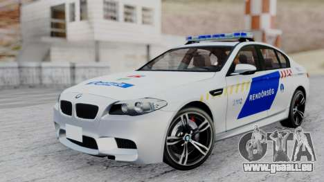 BMW M5 F10 Hungarian Police Car pour GTA San Andreas
