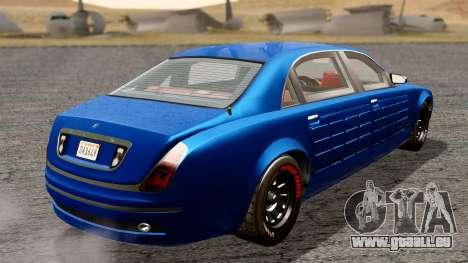 GTA 5 Enus Cognoscenti L Arm pour GTA San Andreas sur la vue arrière gauche