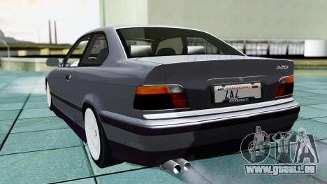 BMW M3 Coupe E36 (320i) 1997 pour GTA San Andreas laissé vue
