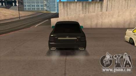 Lada Priora Coupé pour GTA San Andreas sur la vue arrière gauche