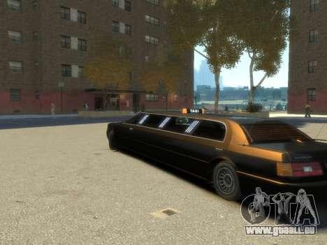 Taxi STRECH pour GTA 4 est une gauche
