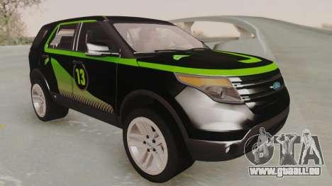 Ford Explorer für GTA San Andreas Innenansicht