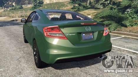 GTA 5 Honda Civic SI v1.0 arrière vue latérale gauche