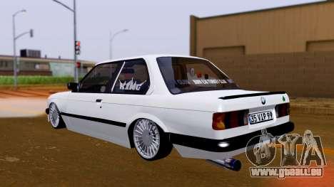 BMW M3 E30 Special pour GTA San Andreas sur la vue arrière gauche