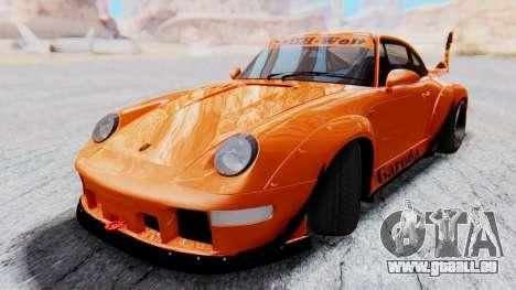 Porsche 993 GT2 RWB GARUDA für GTA San Andreas zurück linke Ansicht