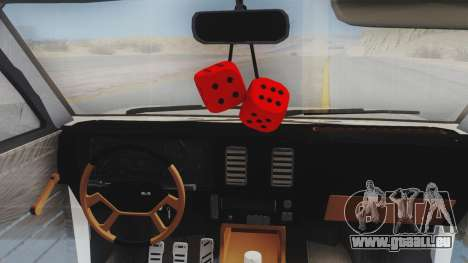 Chevrolet Chevette Stance pour GTA San Andreas vue arrière
