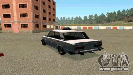 VAZ 2106 Bq für GTA San Andreas zurück linke Ansicht
