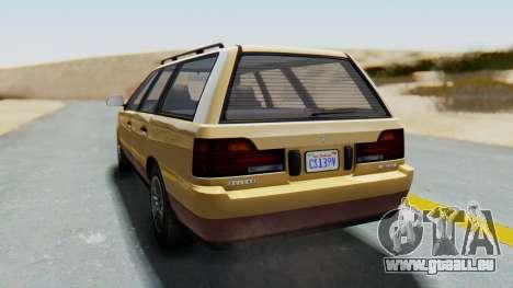 GTA 5 Vulcar Ingot pour GTA San Andreas laissé vue