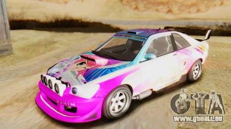 GTA 5 Karin Sultan RS für GTA San Andreas Seitenansicht