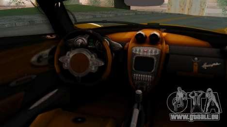 Pagani Huayra LB Performance V.2 pour GTA San Andreas sur la vue arrière gauche