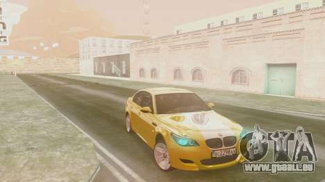 BMW m5 e60 Gold pour GTA San Andreas