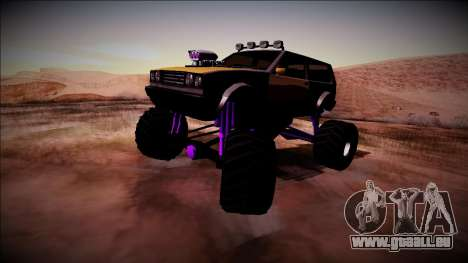 Club Monster Truck pour GTA San Andreas vue de droite