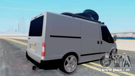 Ford Transit 2007 Model AirTran für GTA San Andreas linke Ansicht