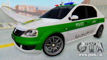 Dacia Logan Iranian Police Naja pour GTA San Andreas