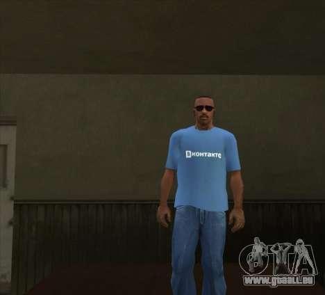 T-Shirt VKontakte pour GTA San Andreas troisième écran