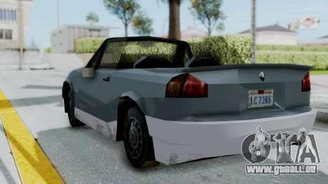 GTA LCS Manana pour GTA San Andreas sur la vue arrière gauche