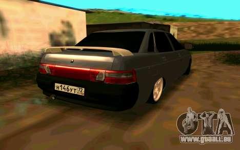 VAZ 2110 v. 2.0 pour GTA San Andreas laissé vue