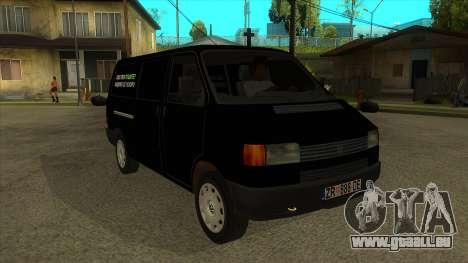 VW T4 Mrtvačka roues pour GTA San Andreas vue arrière