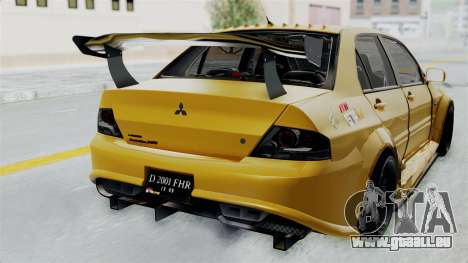 Mitsubishi Lancer Evolution IX MR Edition für GTA San Andreas Rückansicht
