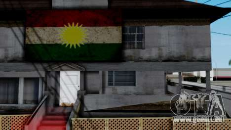 New CJ House with Kurdish Flag für GTA San Andreas dritten Screenshot