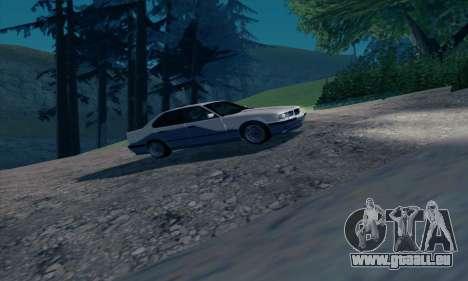 BMW M5 E34 pour GTA San Andreas vue intérieure
