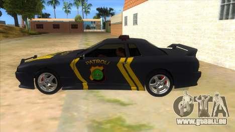 Elegy NR32 Police Edition Grey Patrol für GTA San Andreas linke Ansicht