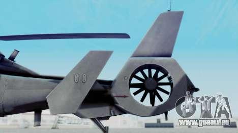 Harbin WZ-19 pour GTA San Andreas sur la vue arrière gauche