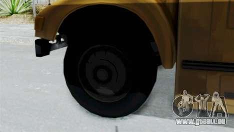Bus from Life is Strange pour GTA San Andreas sur la vue arrière gauche