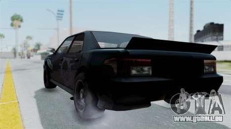 Hotring Sultan pour GTA San Andreas laissé vue