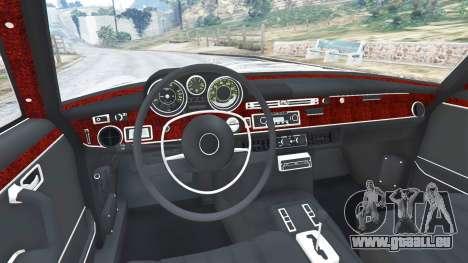 GTA 5 Mercedes-Benz 300SEL 6.3 1972 arrière droit vue de côté