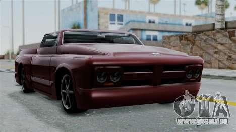 Slamvan Milt-Lorry pour GTA San Andreas sur la vue arrière gauche