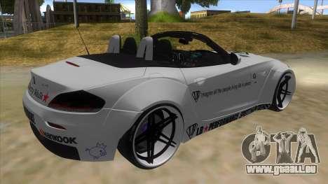 BMW Z4 Liberty Walk Performance Livery pour GTA San Andreas vue de droite