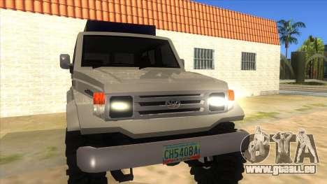 Toyota Machito 4X4 für GTA San Andreas Rückansicht