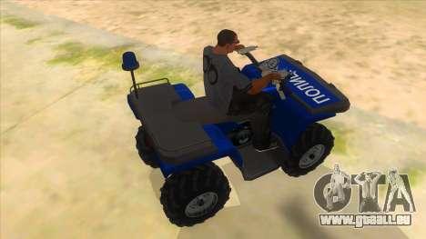 ATV Polaris Police für GTA San Andreas rechten Ansicht