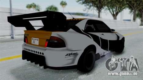 GTA 5 Karin Sultan RS Drift Big Spoiler PJ für GTA San Andreas Seitenansicht