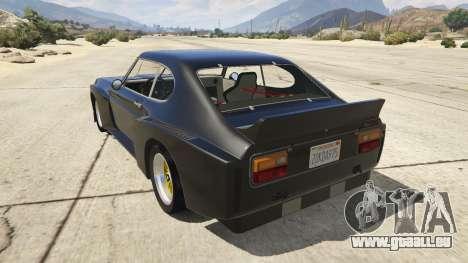 GTA 5 1974 Ford Capri RS arrière vue latérale gauche